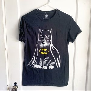 Catman Batman Graphic T-Shirt Black Small